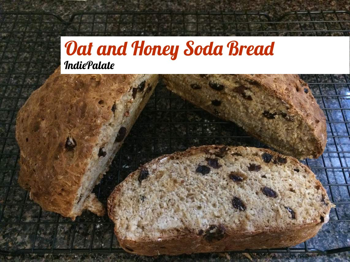 Oats and Honey Soda Bread with Raisins